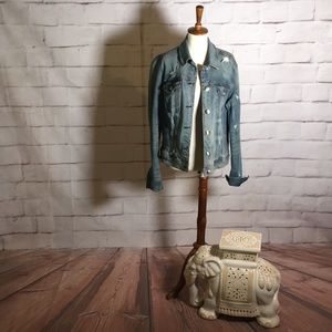 American Eagle Outfitters Distressed Denim Jacket